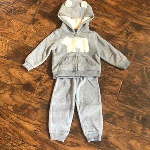 Carter 18 month sweatpants and sweatshirt